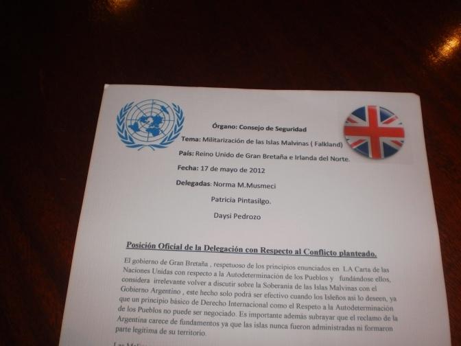 Ejemplo de posición para delegados de UNCITRAL