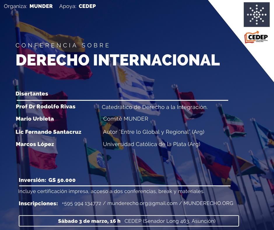 MUNDER - Conferencia sobre DIP - General
