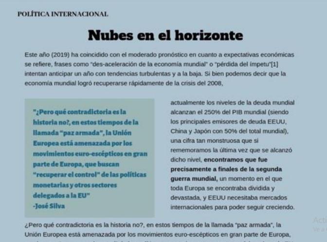 JOSE SILVA DE MUNDER COLABORÓ CON REVISTA MEXICANA